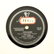 "LOLA AMECHE ""Volcano / Sticky Apple & Bubble Gum"" (E+) MERCURY VINYL PROMO [78]"
