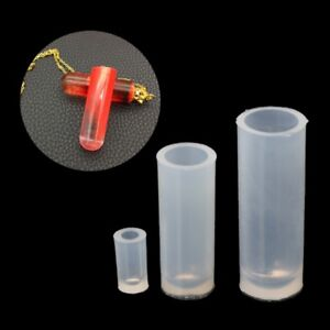 3Pcs Silicone Mold Resin Jewelry Pendant Necklace Cylinder Pendant DIY Mould
