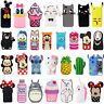 New3D Cute Animals Cartoon Soft Silicone Case Cover Back Skin For Various iPhone