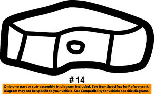 FORD OEM Tail Gate Tailgate Hatch-Bumper F65Z99439A00BB