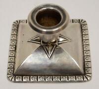 Vintage 830S 830 Coin Silver Hallmarked Small 22g Candle Holder Pentastar Trim