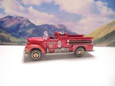 SEAGRAVE FIRE ENGINE   2019 Matchbox MBX Rescue Series    Red