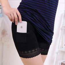 Safety Panties Women Lace Modal Shorts With Pockets Underpants Breathable