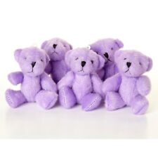 NEW - 10 X PURPLE Teddy Bears - Small Cute Cuddly Adorable - Gift Present