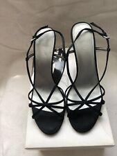 Ladies Nine West Satin Strappy Sandals Uk Size 6.5