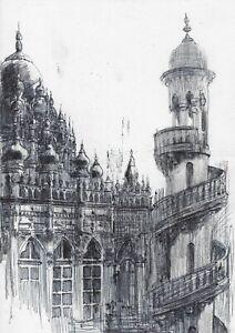 original drawing A4 77PY-Х art by samovar Graphite Architecture Signed 2020