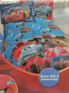 Disney Pixar Cars 3 Pc. Twin Sheet Set, Flat, Fitted & Pillowcase New McQueen