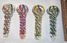 """4 1/2"""" Two Color Collectible Twist Tobacco Smoking Pipe With Smoking Bowl."""