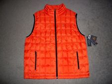 Mens NWT TOMMY HILFIGER Cold-Stop Bubble Down Vest XL ORANGE w/TH Logo
