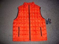 Mens NWT TOMMY HILFIGER Cold-Stop Bubble Down Vest XL ORANGE w/TH Logo