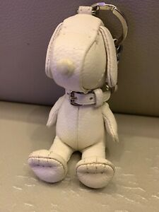 Coach x Snoopy Peanuts Leather Keychain purse Limited Edition