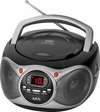 AEG SR 4351 CD Stereoradio schwarz mit CD Player Tragbar LED Display UKW