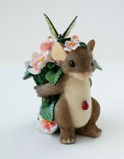 """Fitz & Floyd Charming Tails """"If Friends Were Flowers, I'd Pick You"""" #88/122 Guc"""