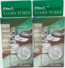 American Silver Eagle-Round Coin Tubes by H.E 5 pack Harris