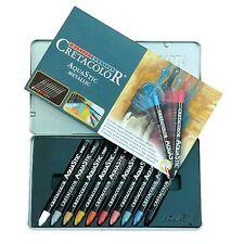 Cretacolor Aqua Stic Tin Set 10 Metallic Colors - Watersoluble Oil Pastels