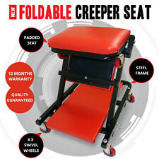 NEW Heavy Duty Garage Tuff 2 in 1 Foldable Creeper Seat & Car Repair Tools Chair