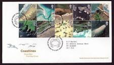 29054) UK - GREAT BRITAIN 2002 FDC Coast lines 10v