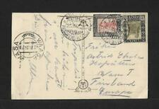 LIBYA TO FINLAND PPC COVER 1924