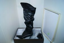 "PLEASER Classique-3011 4"" Heel Thigh-High Boots BLACK SIZE 14M NWB"