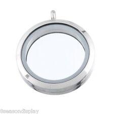 5 Stainless Steel Floating Living Memory Locket Pendant Silver Tone 3.6cmx3cm