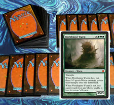 mtg GREEN DEEP WOODS DECK Magic the Gathering rare 60 cards + worldspine wurm