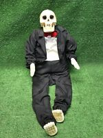 vtg GEMMY HALLOWEEN SKELETON  GROOM SET ANIMATED fast Free Shipping *read desc*