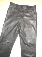 Herren Teenis Bikerhose Motorradhose Lederhose Leatherpants Gr 94 S 48