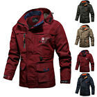 Mens Winter Waterproof Tactical Jacket Hooded Breathable Outdoor Military Coat