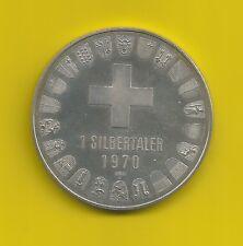 1 Silber-Taler-Schweiz-1970-Arosa-835er Silber-