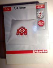 Genuine Miele Vacuum Cleaner AirClean Dust Bags Type Fjm Pack of 4 Bags 2 Filter