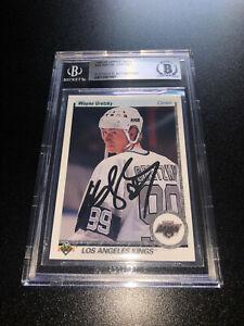 Wayne Gretzky Signed 1990-91 Upper Deck Card #54 Los Angeles Kings BAS Slabbed