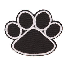 footprint iron on patch embroidered applique sewing clothes stickers garmentTYD