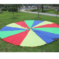 Parachute Outdoor Game Exercise Sport Toy 8 Handles Kids Play Rainbow Parachute