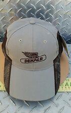 Dekalb seed Realtree Max-4 Camo Cap hat 100% khaki twill mesh w/ brown piping