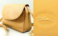 Vtg LONGCHAMP Paris FRANCE Handbag Leather Shoulder Bag Messenger Crossbody