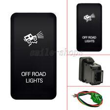 12V Push Switch White LED Off Road Lights For Toyota FJ Fortuner Cruiser 07-14