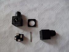 1x Gerätestecker Stecker für Magnetventil 30mm x 30mm, Ventilstecker 4Pol. 3+PE