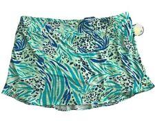NWT Women's CORAL BAY GOLF Plus Size Skort Green/Blue w/tropical print 3X