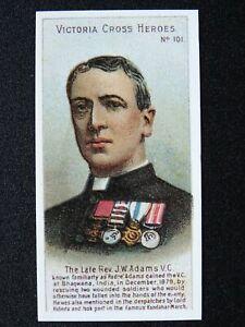 No.101 REV J.W. ADAMS Victoria Cross Heroes Boer War REPRO by Taddy 1904