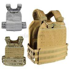 Adjustable Tactical Weight Vest Plate Carrier Jacket Gym Sport Training