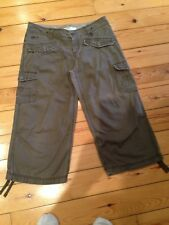 O'Neill VINTAGE STYLE Casual Cropped CANVAS JEAN Trousers LONG SHORTS Size 30