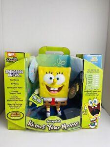 Fisher Price Sponge Bob Knows Your Name Easy To Program 2006 New
