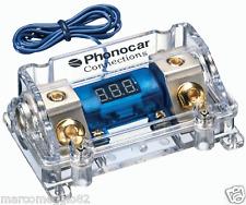 Portafusibile con Voltmetro. Fusibile ANL (maxi lama) Cavo In/Out 50 mm²