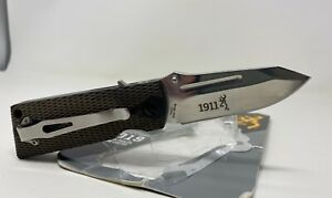 "Browning® 1911 Autoloading John M. Browning 2.75"" RARE Folding Knife 3220502"