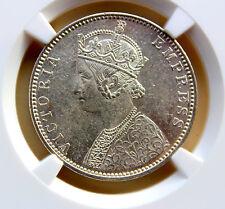 British India 1901-B One Rupee Type A/1 NGC MS-61 BUNC