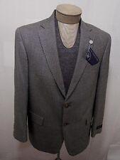 Hart Schaffner Marx Men's Wool Silk Coat Blazer Brown Black Houndstooth 41R $550