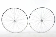 "27""x 1 1/4"" PAIR OF ""POLISHED CHROME LOOK ""ALLOY SINGLE SPEED WHEELS"