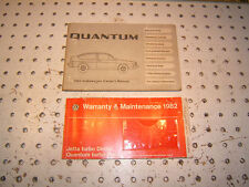 Vw 1982 Quantum Gas Or Diesel Models Owners Oe 1 Set Of 2 Manuals82 Vw Quantum