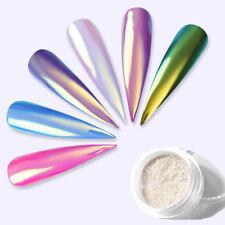 1 Box 0.2g Neon Mermaid White Nail Glitter Powder Pigment Mirror Chrome DIY New