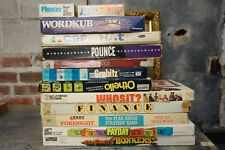 Large Lot of 14 Vintage Board Games 70's Earlier Othello Finance Bonkers PayDay